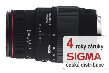 Sigma 70-300 mm F 4-5,6 APO DG Macro pro Nikon s motorovým ostřením