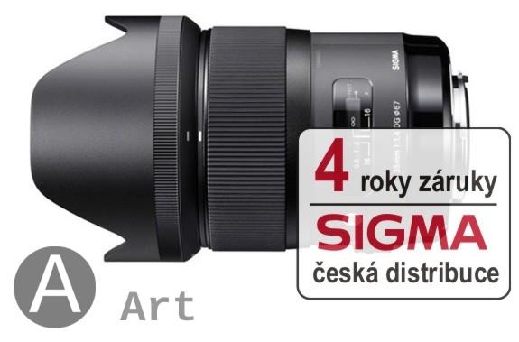 Sigma 35 mm F 1,4 DG HSM pro Pentax (řada Art), Bonus 1.500 Kč ihned odečteme