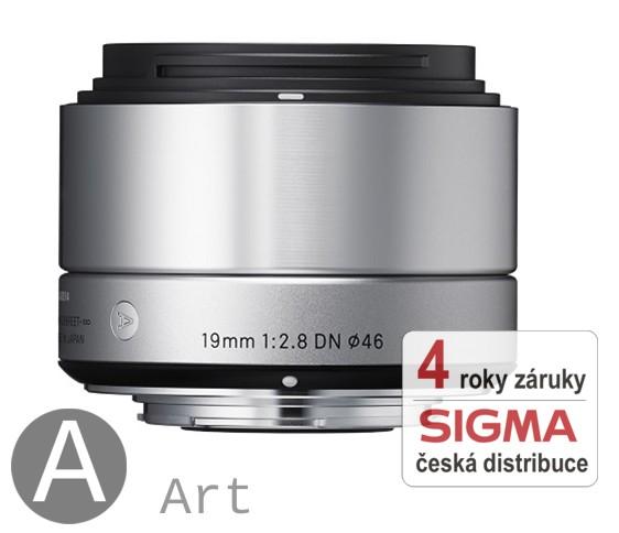 Sigma 19 mm F 2,8 DN stříbrný pro Sony bajonet E (NEX) (řada Art)