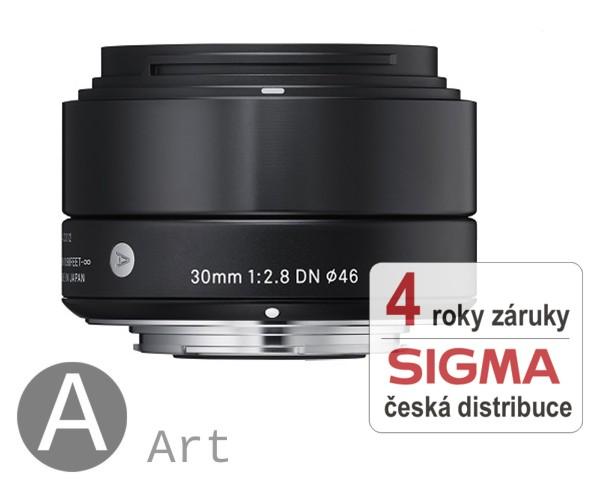 Sigma 30 mm F 2,8 DN černý pro Olympus Micro 4/3 (řada Art)