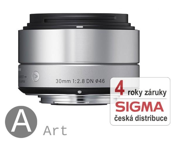 Sigma 30 mm F 2,8 DN stříbrný pro Olympus Micro 4/3 (řada Art)