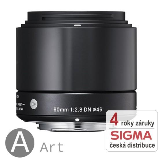 Sigma 60 mm F 2,8 DN černý pro Olympus Micro 4/3 (řada Art)