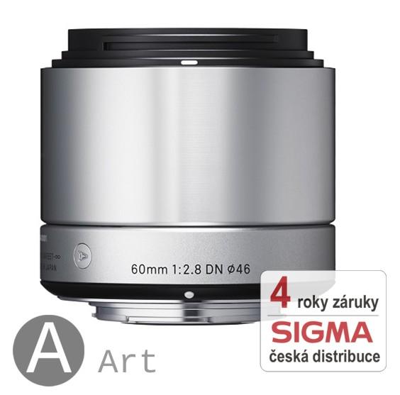 Sigma 60 mm F 2,8 DN stříbrný pro Sony bajonet E (NEX) (řada Art)