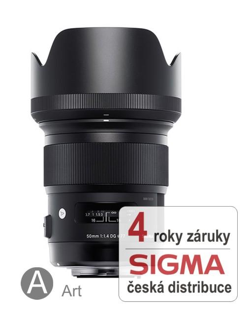 Sigma 50 mm F 1,4 DG HSM pro Nikon (řada Art)