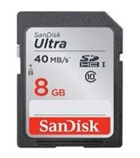 SanDisk SecureDigital Ultra 8GB SDHC 40 MB/s