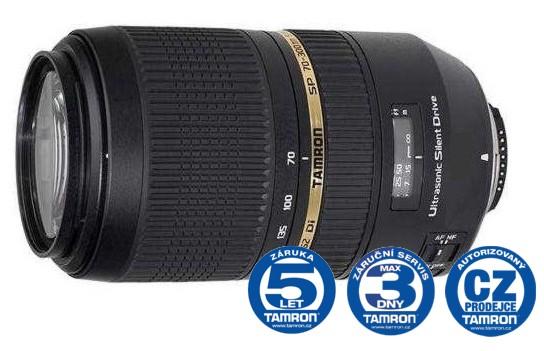 Tamron SP AF 70-300 mm F 4-5,6 Di VC USD pro Nikon, CashBack 600 Kč