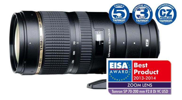 Tamron SP 70-200 mm F 2,8 Di VC USD pro Nikon, Bonus 2500 Kč ihned odečteme