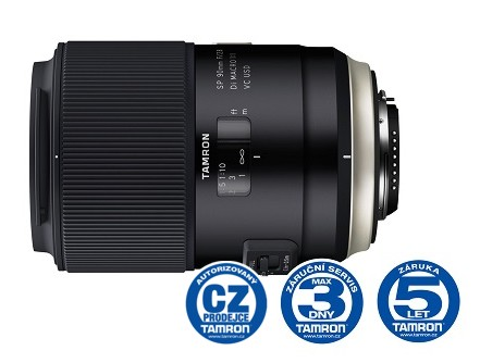 Tamron AF SP 90mm F/2.8 Di Macro 1:1 VC USD pro Canon (F017), Bonus 1000 Kč ihned odečteme