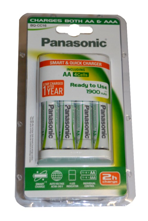 Panasonic BQ-CC16 + 4x AA baterie Panasonic 1900 mAh