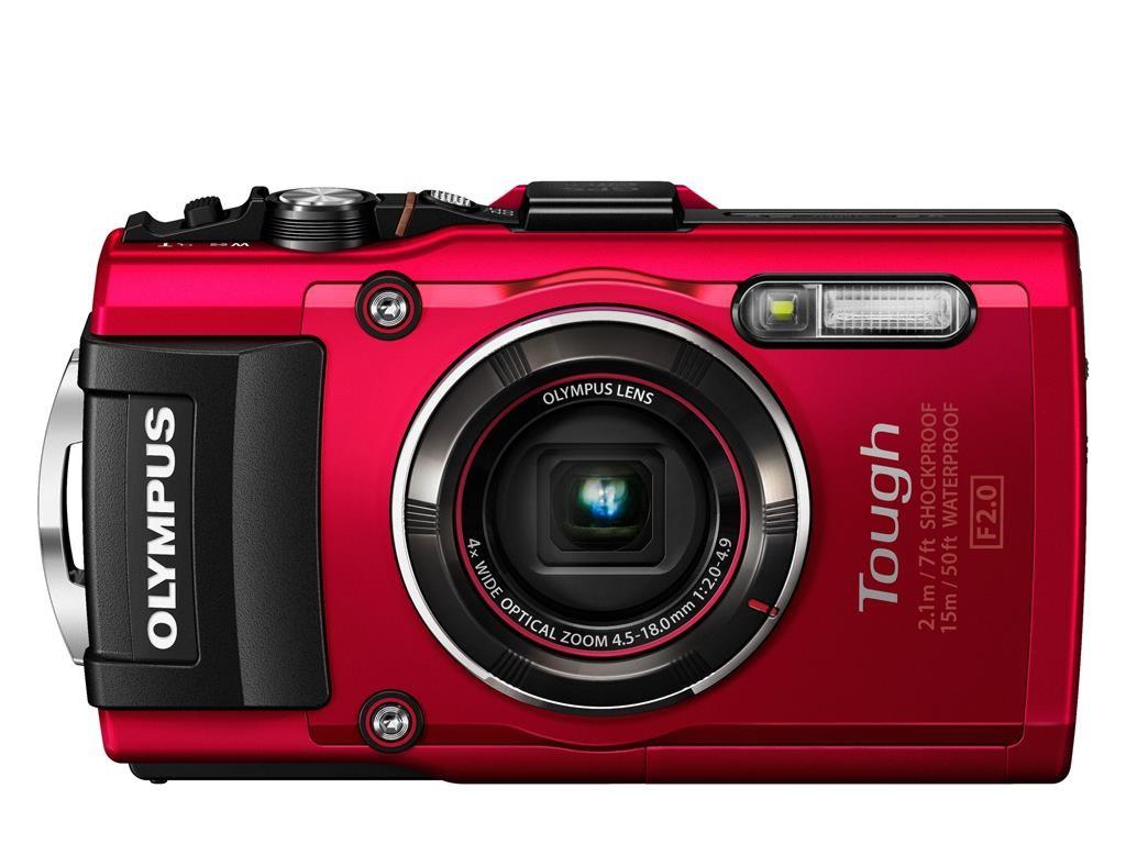 Olympus TG-4 červený
