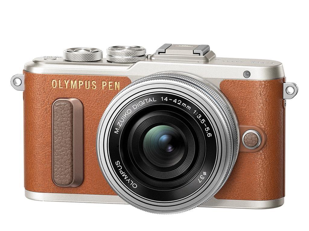 Olympus PEN E-PL8 + 14-42 mm EZ hnědý