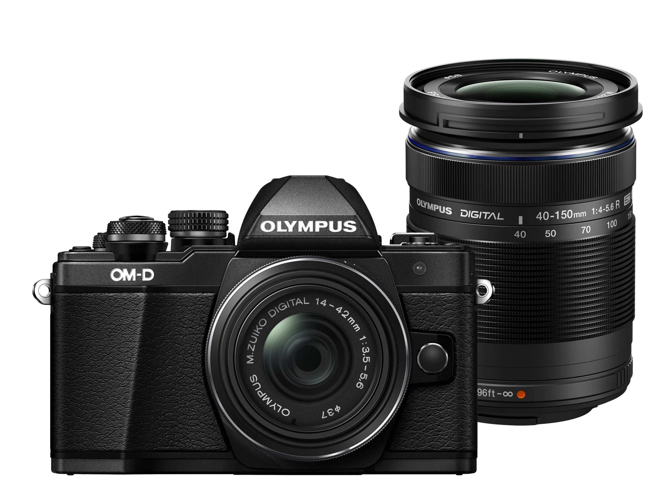 Olympus OM-D E-M10 mark II + 14-42 mm EZ / 40-150 R černý + Karta SDHC 16GB