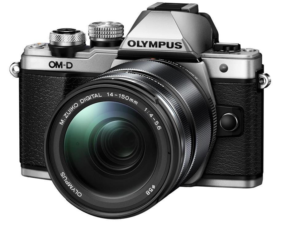 Olympus OM-D E-M10 mark II + 14-150 stříbrný + SDHC 16GB, CashBack 2000 Kč