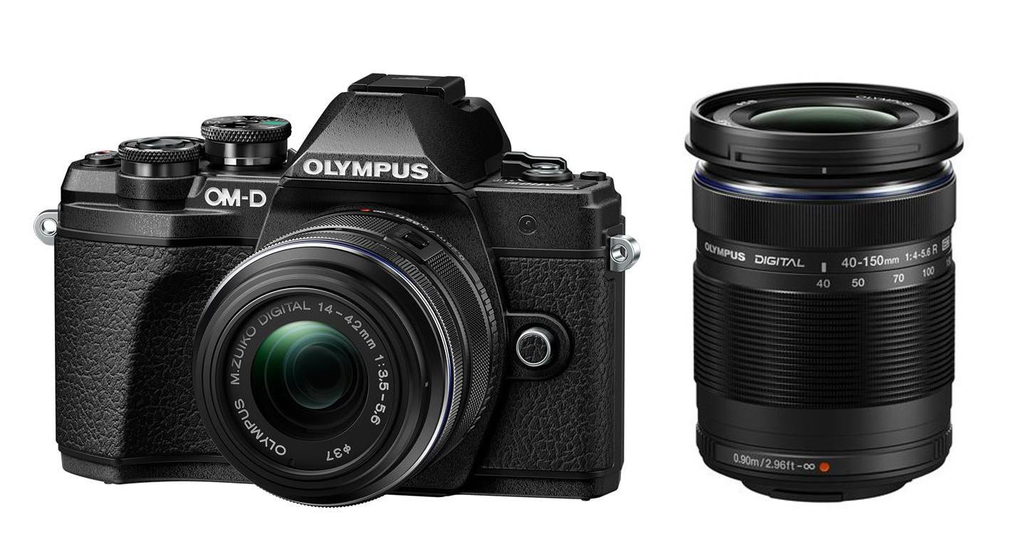 Olympus OM-D E-M10 mark III DZ 14-42 II R / 40-150 R černý