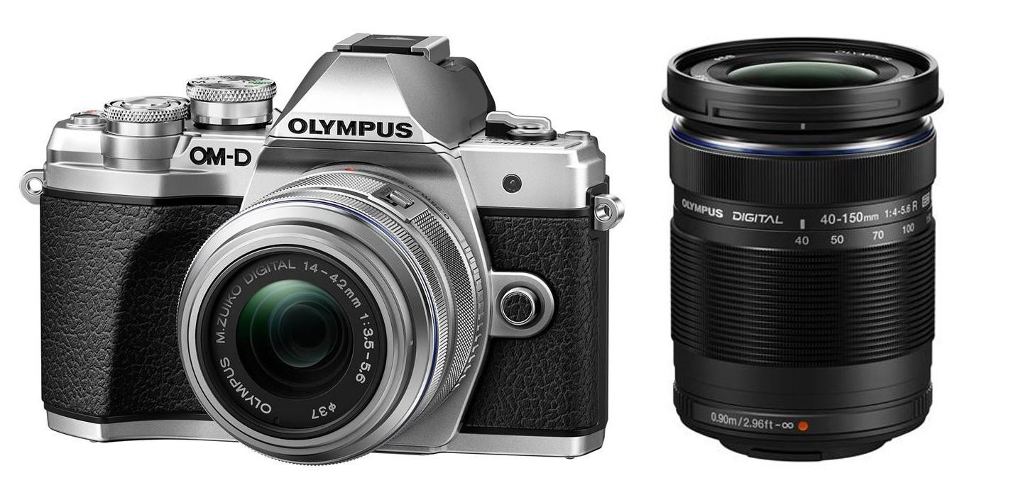 Olympus OM-D E-M10 mark III DZ 14-42 II R / 40-150 R stříbrný