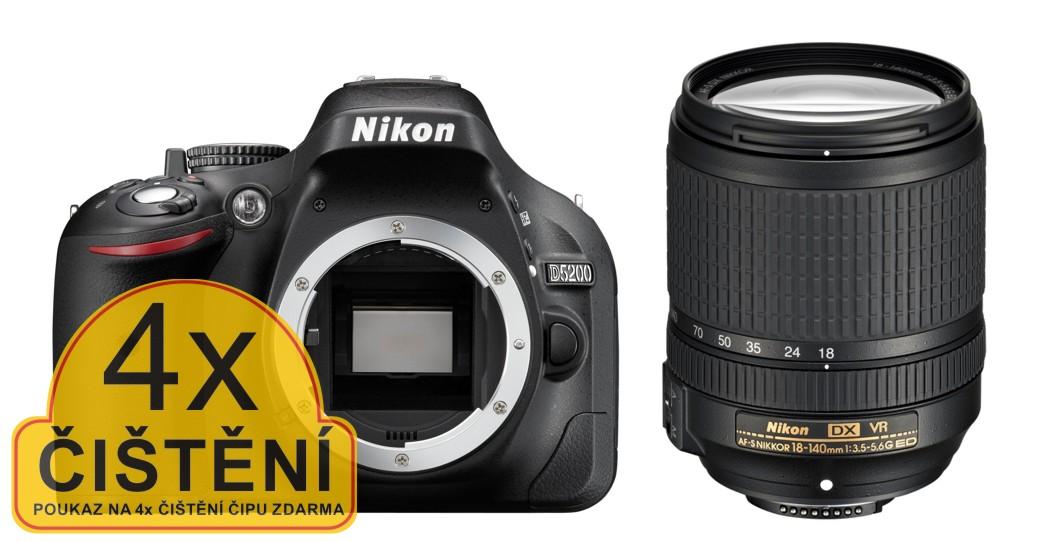 Nikon D5200 + 18-140 AF-S VR černý