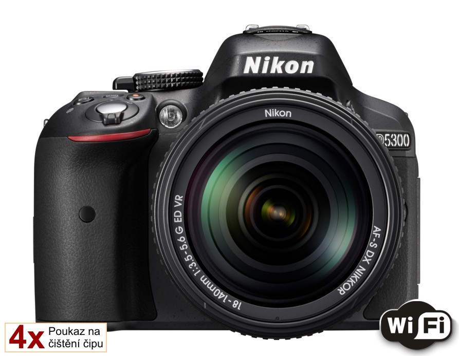 Nikon D5300 + 18-140 AF-S VR černý