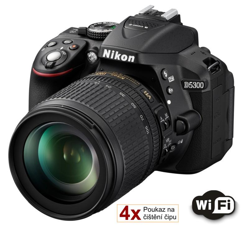 Nikon D5300 + 18-105 AF-S VR černý