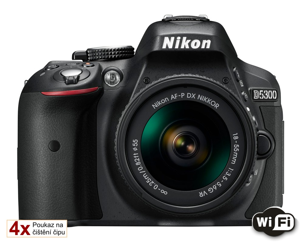 Nikon D5300 + 18-55 AF-P VR černý