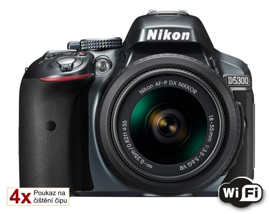 Nikon D5300 + 18-55 AF-P VR šedý