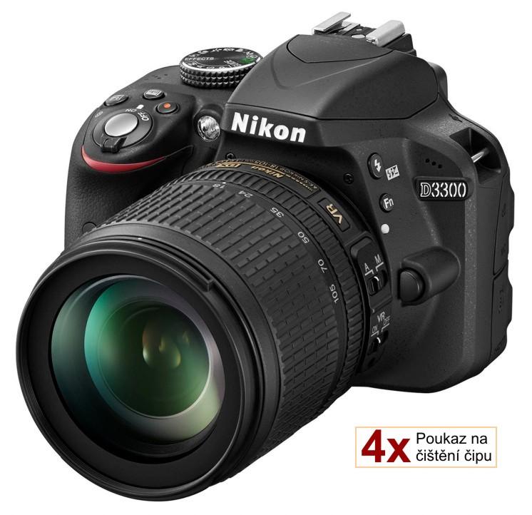 Nikon D3300 + 18-105 AF-S VR černý