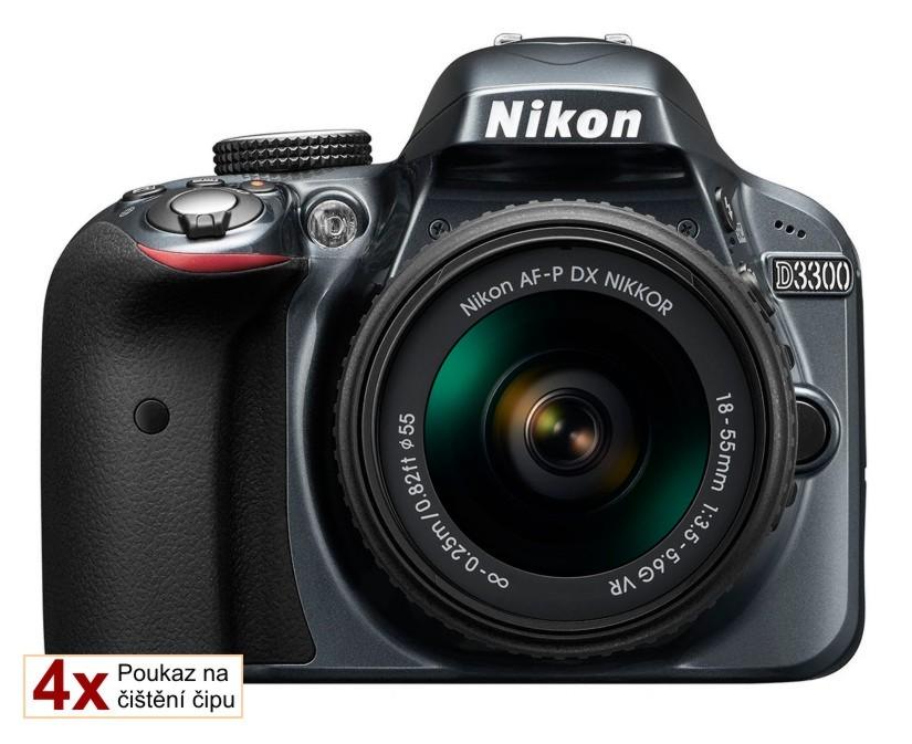 Nikon D3300 + 18-55 AF-P VR šedý