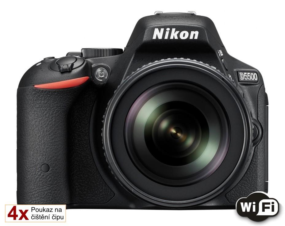 Nikon D5500 + 18-105 mm AF-S VR II černý