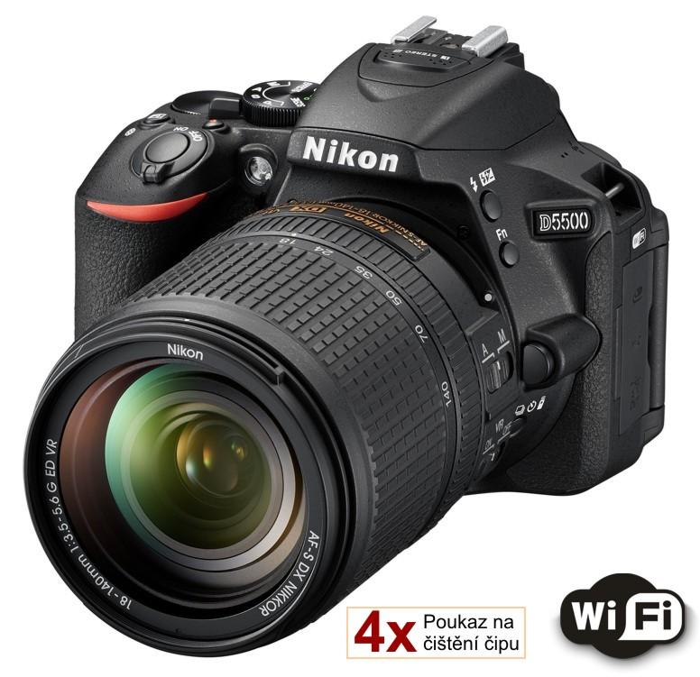 Nikon D5500 + 18-140 mm AF-S VR