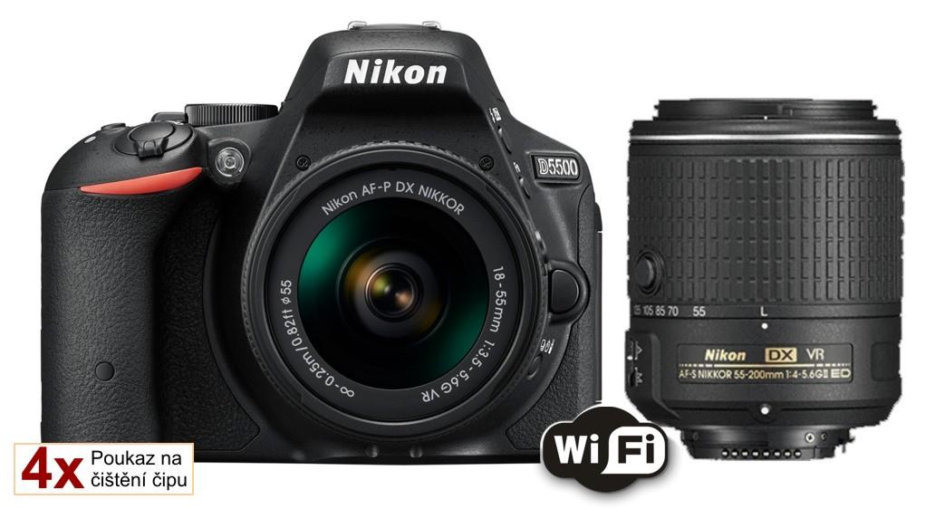 Nikon D5500 + 18-55 mm AF-P VR / 55-200 mm AF-S VR II