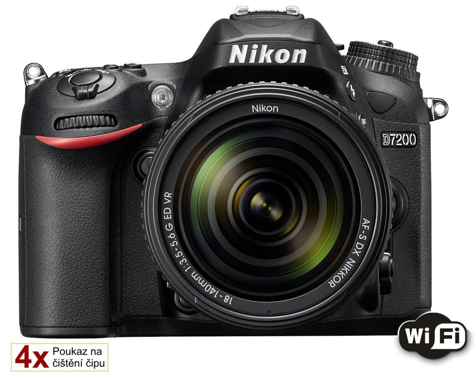 Nikon D7200 + 18-140 AF-S VR, Bonus 2400 Kč ihned odečteme