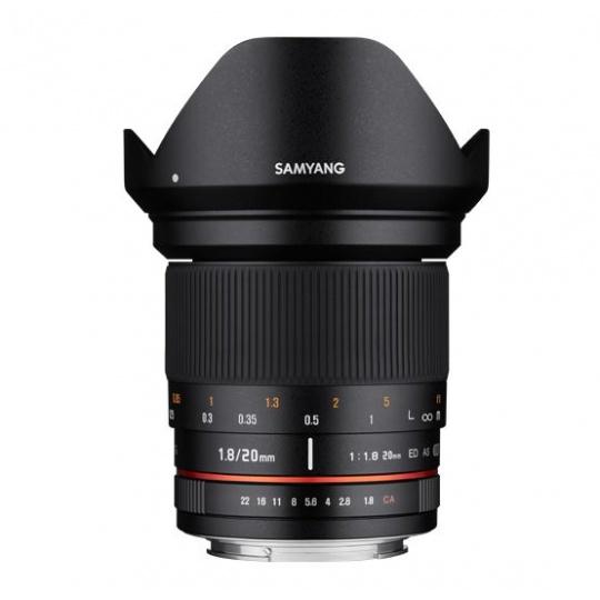 Samyang 20mm F/1.8 ED AS UMC pro Canon EF