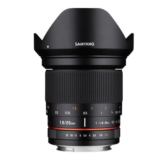 Samyang 20mm F/1.8 ED AS UMC pro Sony E