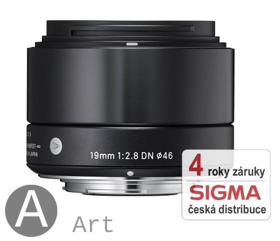 Sigma 19 mm F 2,8 DN černý pro Sony bajonet E (řada Art)