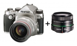 Pentax KP + DA 20-40 F 2.8-4 ED WR stříbrný + Objektiv Pentax DA 50/1,8