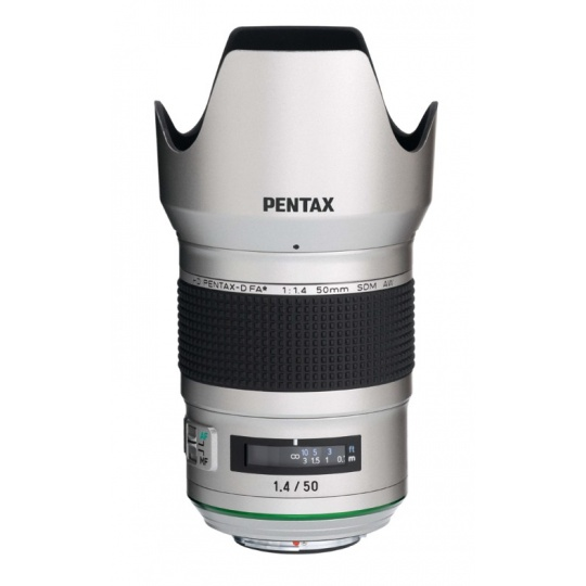 Pentax HD D-FA 50 mm F 1,4 SDM AW Silver Edition