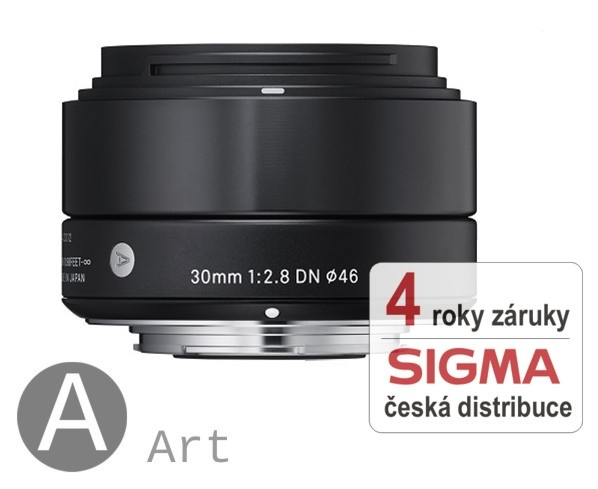 Sigma 30 mm F 2,8 DN černý pro Sony bajonet E (řada Art)
