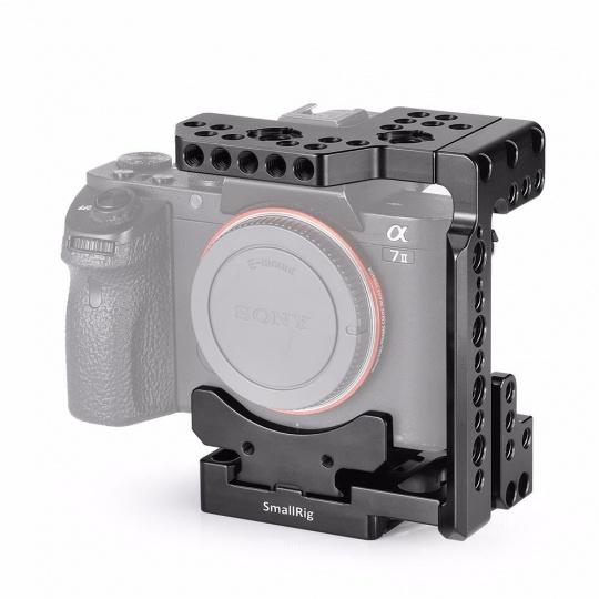 SmallRig 2238 Arca QR Half Cage for Sony A7R III/A7 III/A7 II/A7R II/A7S II