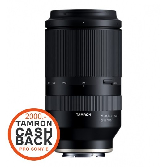 Tamron 70-180mm F/2.8 Di III VXD pro Sony FE (A056SF), CashBack 2000 Kč