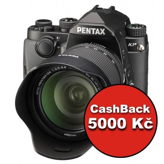 Pentax KP + DA 18-135mm WR černý, CashBack 5000 Kč