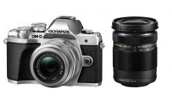Olympus OM-D E-M10 mark III DZ 14-42 II R / 40-150 R stříbrný + karta SDHC 32GB