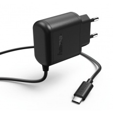Hama síťová nabíječka s USB kabelem typ C (USB-C), 3 A