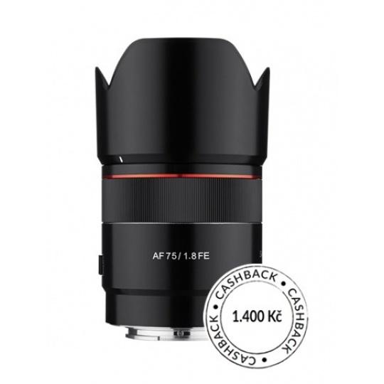 Samyang AF 75mm f/1.8 Sony FE, CashBack 1400 Kč