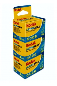 Kodak Ultra Max 400/36 barevný negativní kinofilm 3 ks