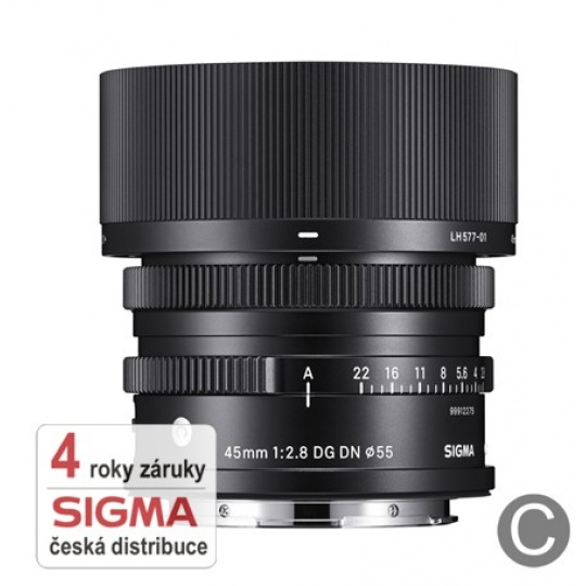 Sigma 45mm f/2.8 DG DN Contemporary  L-mount Sigma / Panasonic / Leica, Nákupní bonus 700 Kč (ihned odečteme z nákupu)