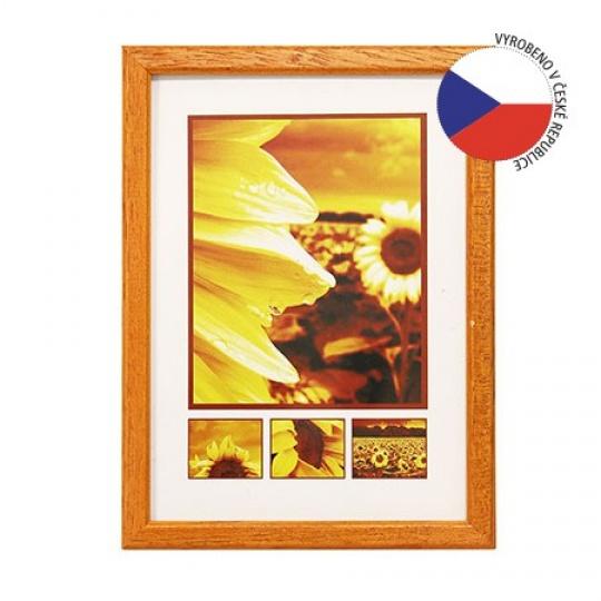 Hama rámeček dřevěný TRAVELLER II oranžová 29,7x42 cm