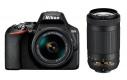 Nikon D3500 + 18-55 AF-P VR / 70-300 AF-P VR černý