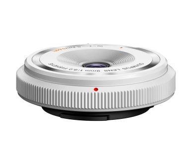 Olympus M.ZUIKO DIGITAL 9mm 1:8.0 Body Cap BCL-0980 Rybí oko bílý
