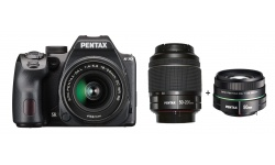 Pentax K-70 + 18-50 DA WR RE / DA-L 50-200 WR černý + Objektiv Pentax 50/1,8