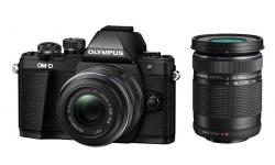 Olympus OM-D E-M10 mark II + 14-42 mm R / 40-150 R černý + náhradní baterie T6