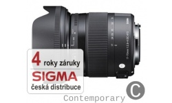 Sigma 17-70 mm F 2,8-4 DC Macro OS HSM pro Canon (řada Contemporary), Bonus 600 Kč ihned odečteme